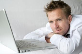 A man about to write a personal dating ad