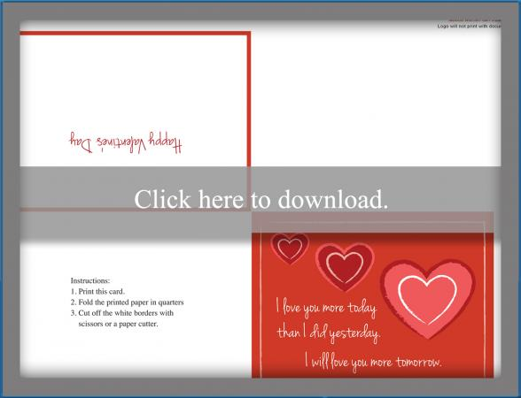 picture about Free Printable Valentines Day Cards for Your Husband identify 2 Totally free Printable Passionate Valentine Playing cards LoveToKnow