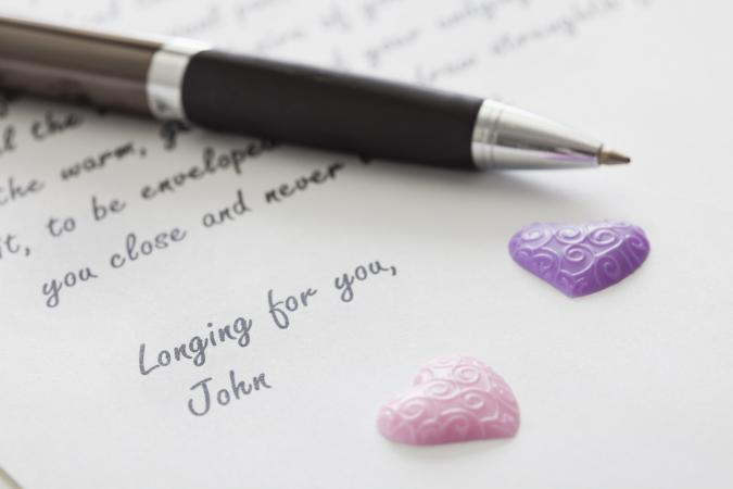 Letter to your girlfriend saying you love her