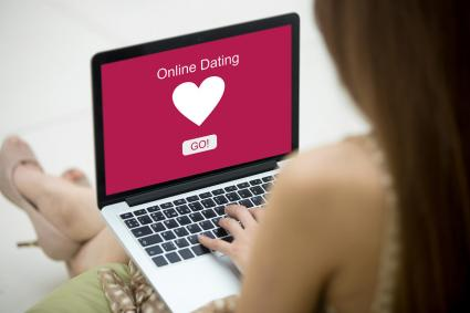 Young woman on dating site