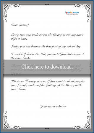 secret admirer letters secret admirer letter samples how to write a secret 24783 | 235975 318x450 Love letter secret admirer thumbnail