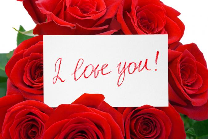 I Love You Card and Roses