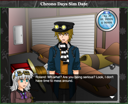 Chrono Days Sim Date website