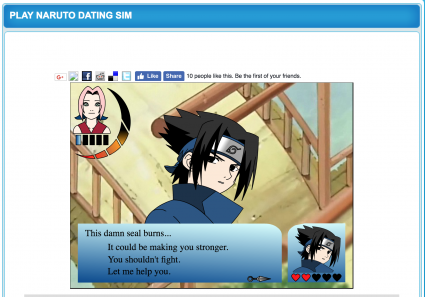 Naruto Dating Sim Website