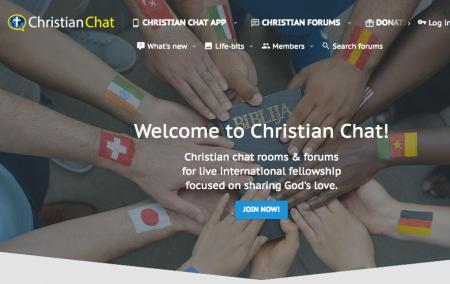 Screenshot of christianchat.com home page