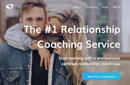 Screenshot of Relationship Hero home page