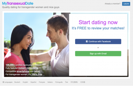 Transgender woman dating site