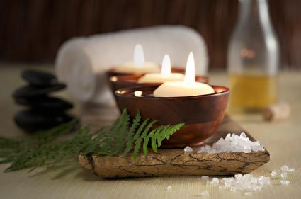 Candles and massage oil