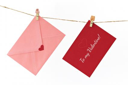To my Valentine envelopes on line