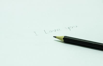 Pencil With I Love You Text