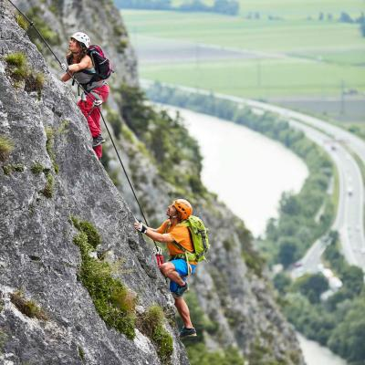 two rock climbers in Martinswand