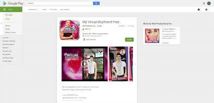 Screenshot of My Virtual Boyfriend App