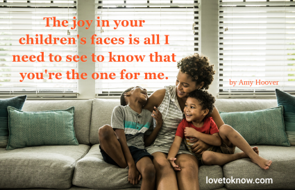 single mom and children dating quote