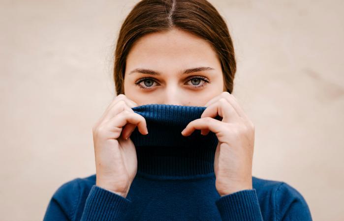 Introvert woman