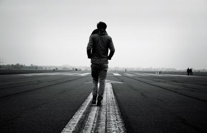 Man Walking Forward