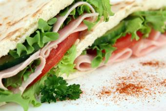 Ham wrap sandwich