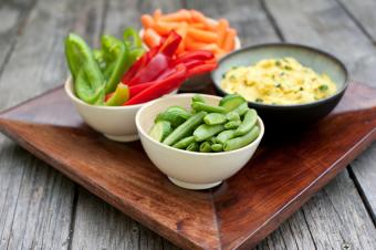 Vegetables and hummus