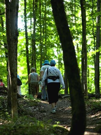 Hiking at Green Mountain at Fox Run   Photo © Green Mountain at Fox Run