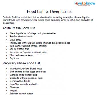 diverticulitis foods