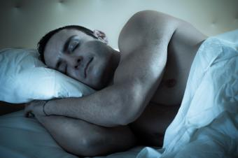 Athlete sleeping