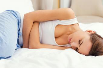 Woman feeling a stomach ache