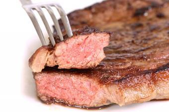 Slice of grilled beef steak