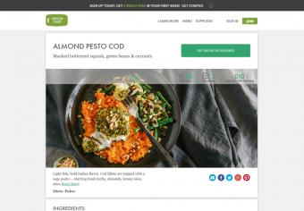 Green Chef recipe page