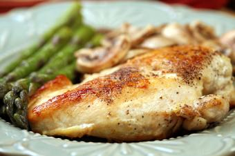 Chicken asparagus and mushrooms