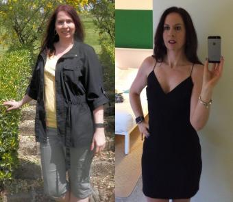 Before and after photo of Sheryl Walder