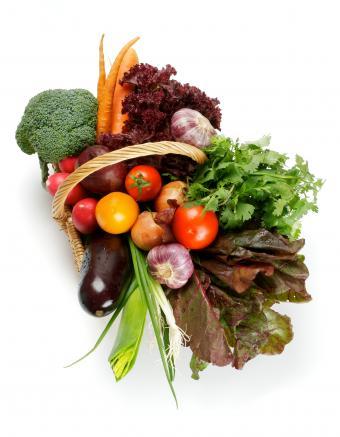 basket of veggies ok to eat