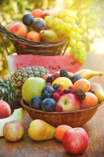 Basket of assorted allowed fruits
