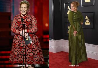Adele before 2013 and after 2017