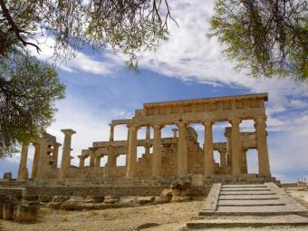 Mediterranean Diet Greek temple