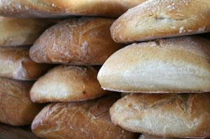 Stacks of bread