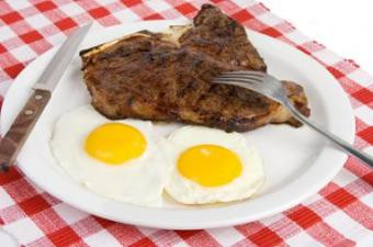 steak and eggs for breakfast
