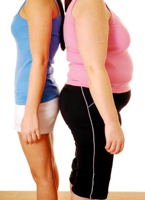 Fit Woman and Obese Woman