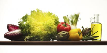 Vegetables and olive oil