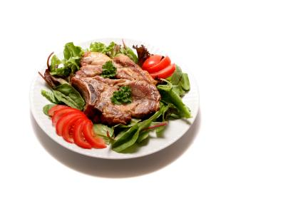 Quick Pork Chops and Salad