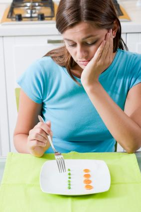 Woman discouraged about diet foods