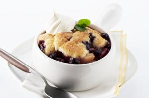 Souther nStyle Blueberry Cobbler with Biscuit Topping