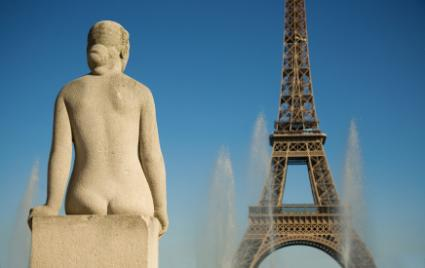 Statue of woman at the Trocadero
