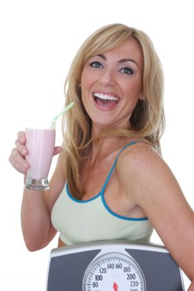 Woman Drinking Meal Replacement