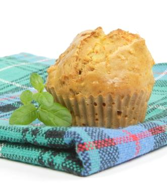 Carrot and cream cheese muffin