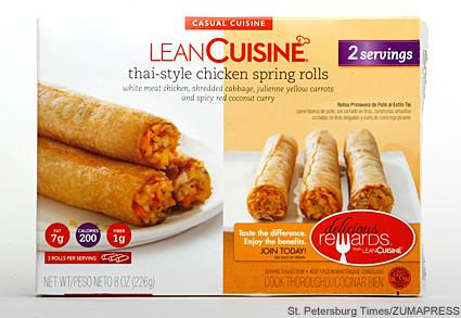 can you lose weight eating lean cuisine frozen dinners