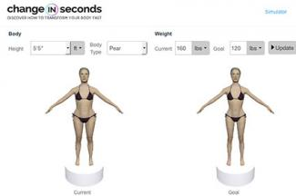 Screenshot of Changeinseconds.com Simulator