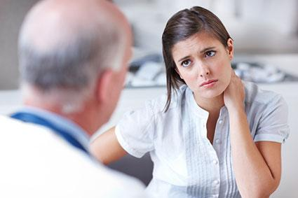 Patient consulting doctor about nerve pain