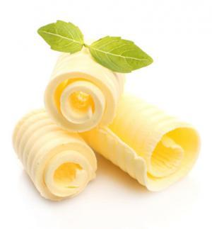 Curls of fresh butter