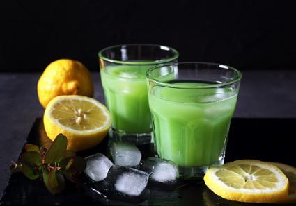 cactus juice with lemon