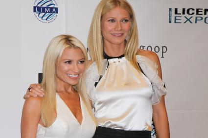 Gwyneth Paltrow with her trainer Tracy Anderson