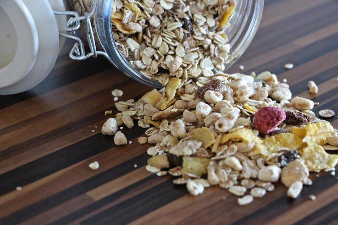 oatmeal meusli health food